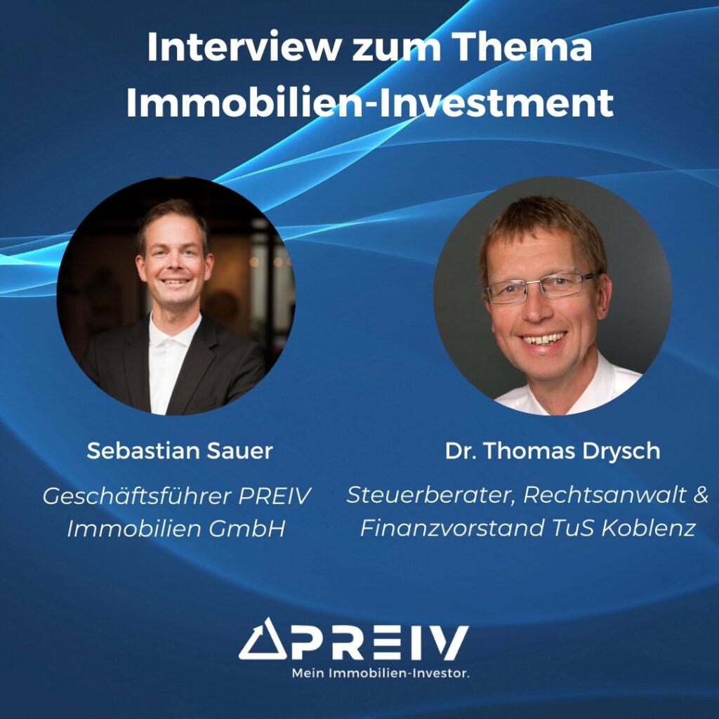 PREIV Immobilien GmbH_Immobilien Investment_Interview Dr Thomas Drysch_Steuerberater, Rechtsanwalt_Finanzvorstand TuS Koblenz