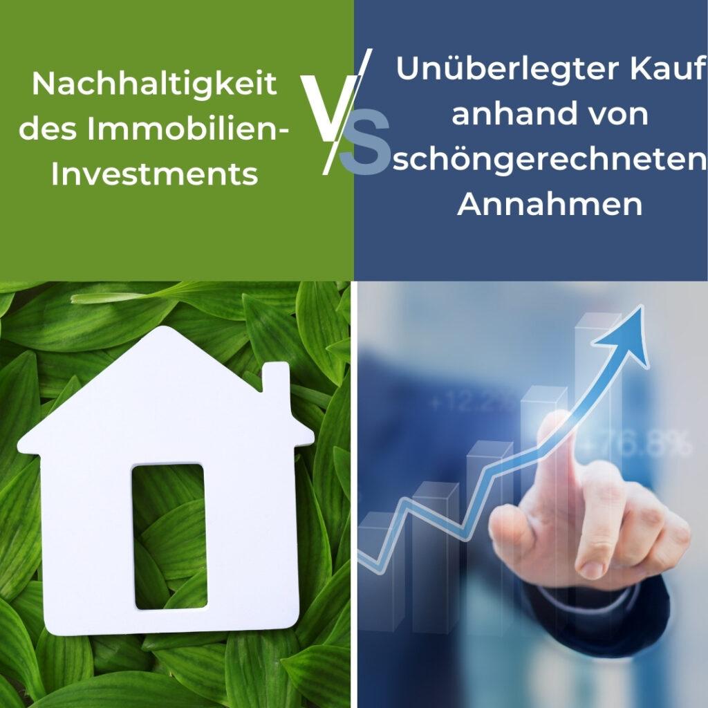 PREIV Immobilien GmbH_Nachhaltigkeit des Immobilien-Investments vs. Unüberlegter Kauf