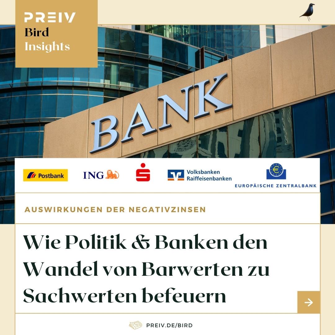 PREIV Immobilien GmbH_Immobilien Investments_Immobilien als Kapitalanlage_Negativzinsen_EZB_Sparkasse_Postbank_ING